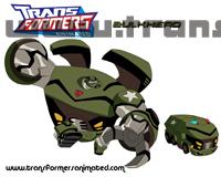 Transformers Animated Characters Bulkhead Wallpaper