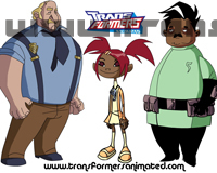 Transformers Animated Groupshots Humans Wallpaper